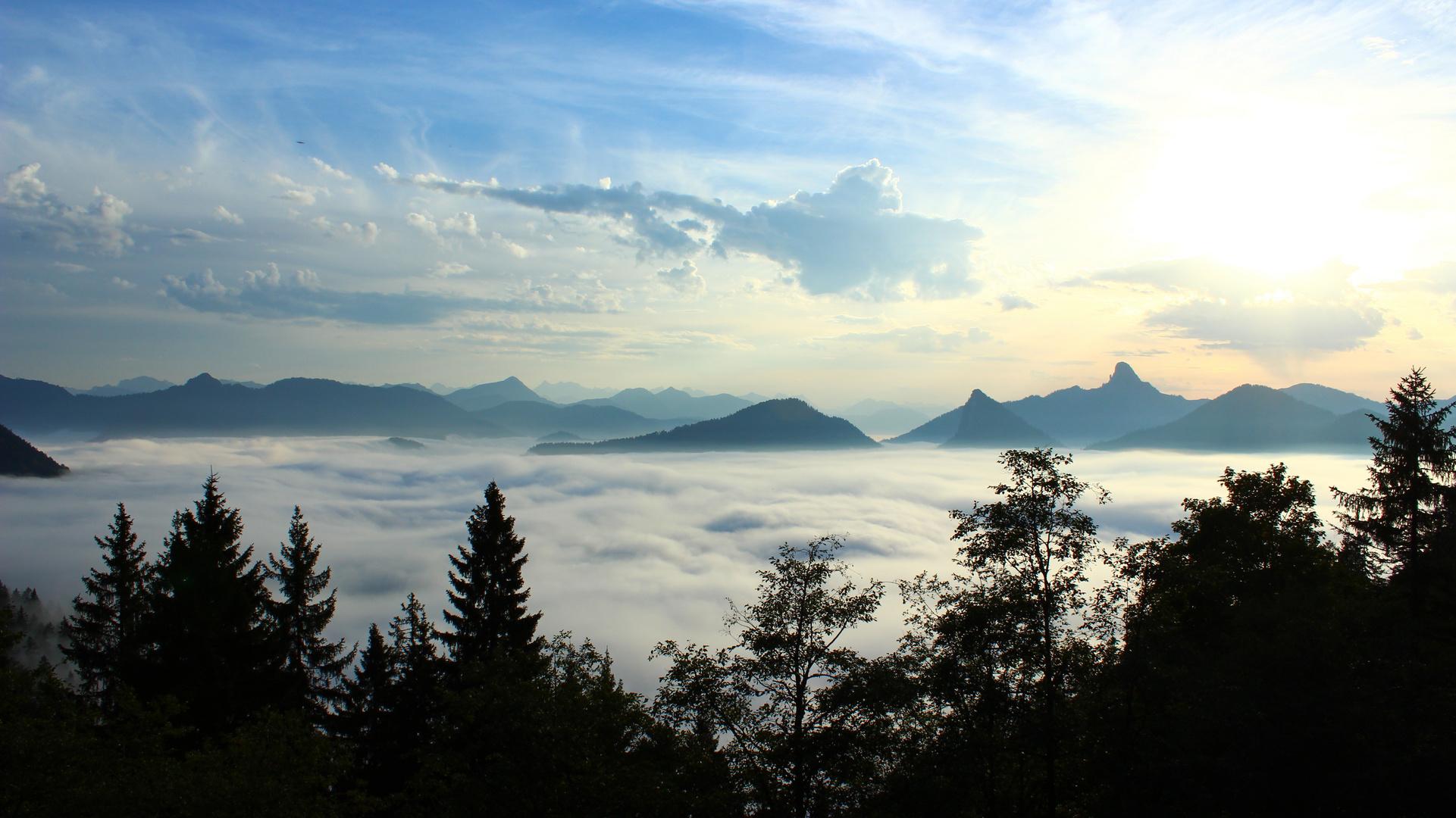 Über den Wolken im Tegernseer Tal