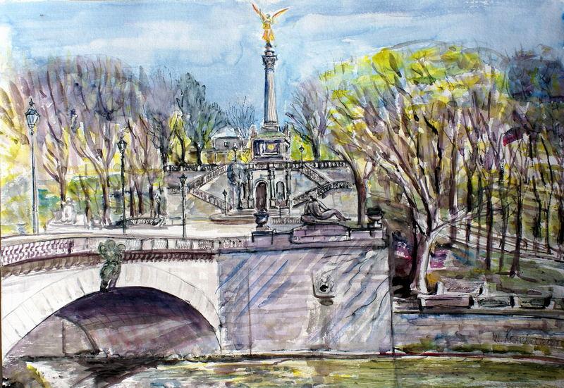 über die Luitpoldbrücke zum Friedensengel