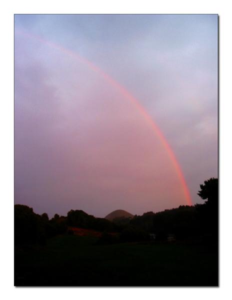 Über die Schwierigkeit einen Regenbogen zu fotografieren