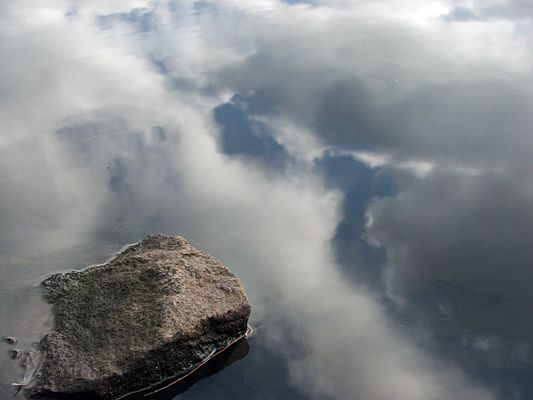 über die Wolken...
