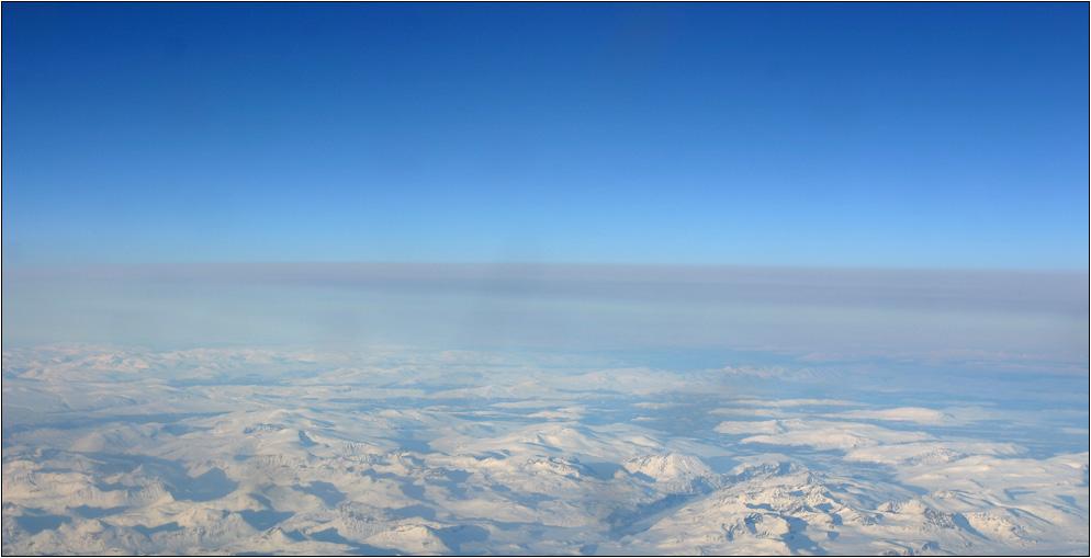 Über Grönland...