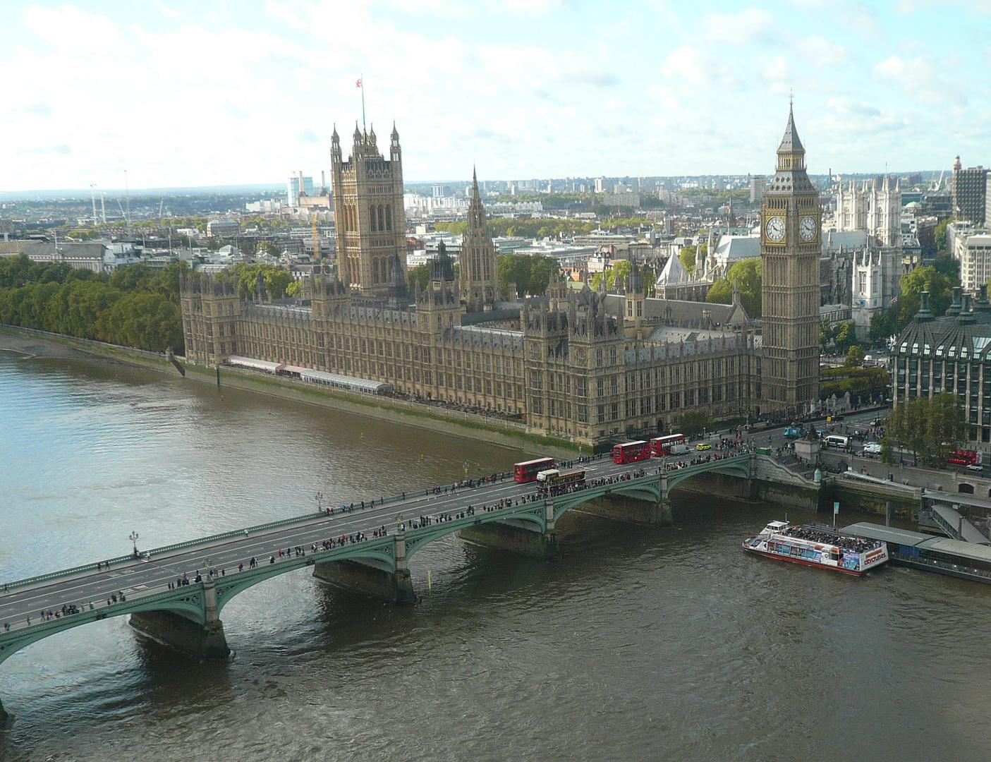 Über London...hoch hinaus :)