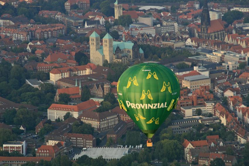 über Münster hinweg :-)