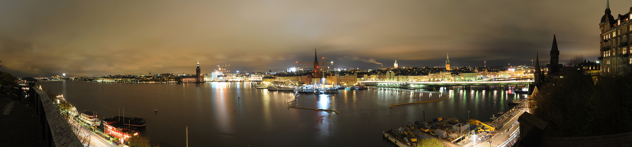 über Stockholm bei nacht 1