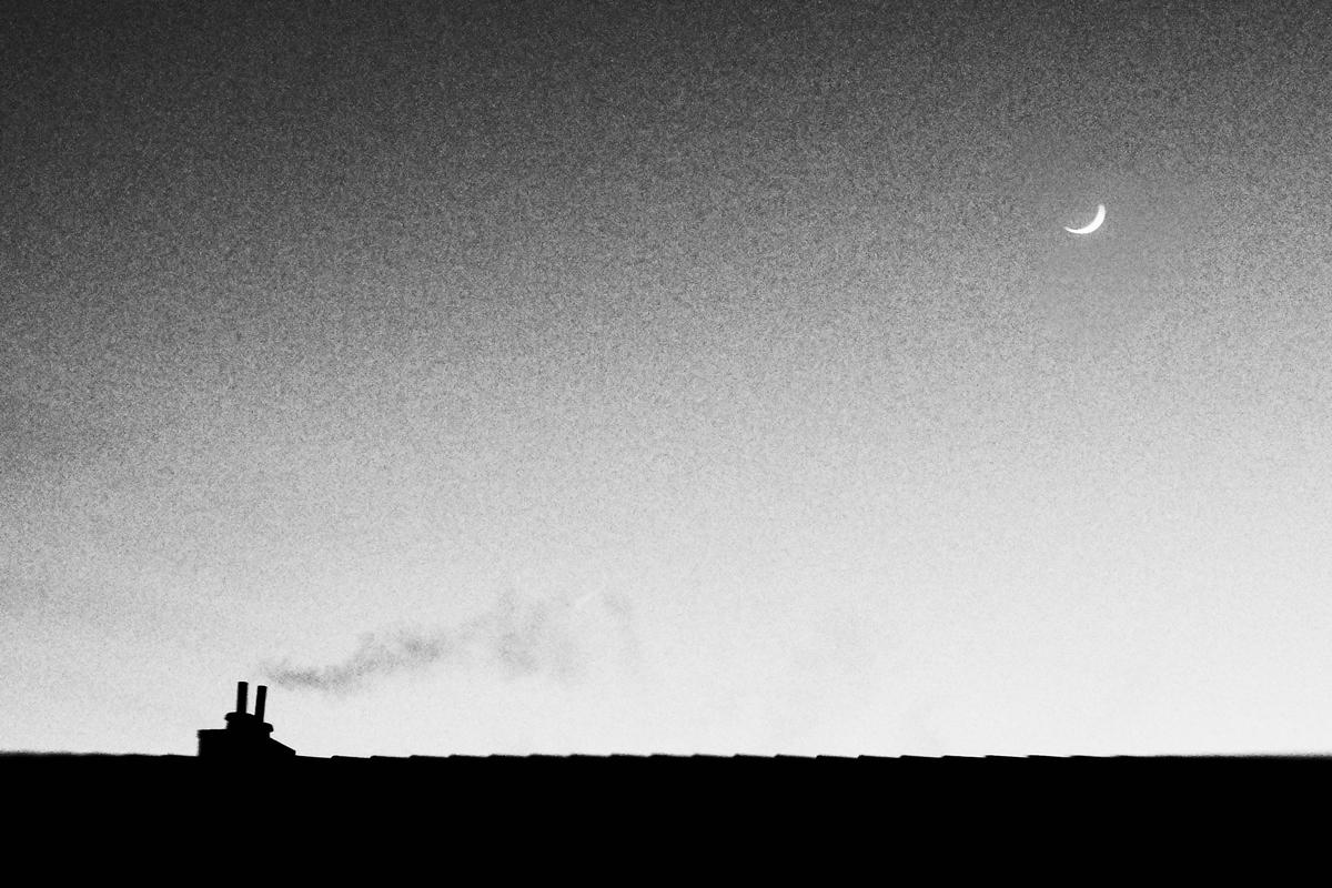 Über uns der Mond