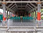Überdachte Veranstaltungshalle für Balinesische Tänze