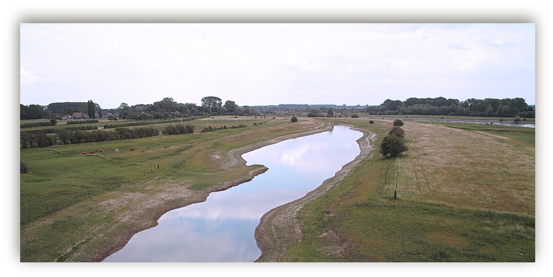 Überflutungsgebiet der Ijssel bei Zutphen/Nl.