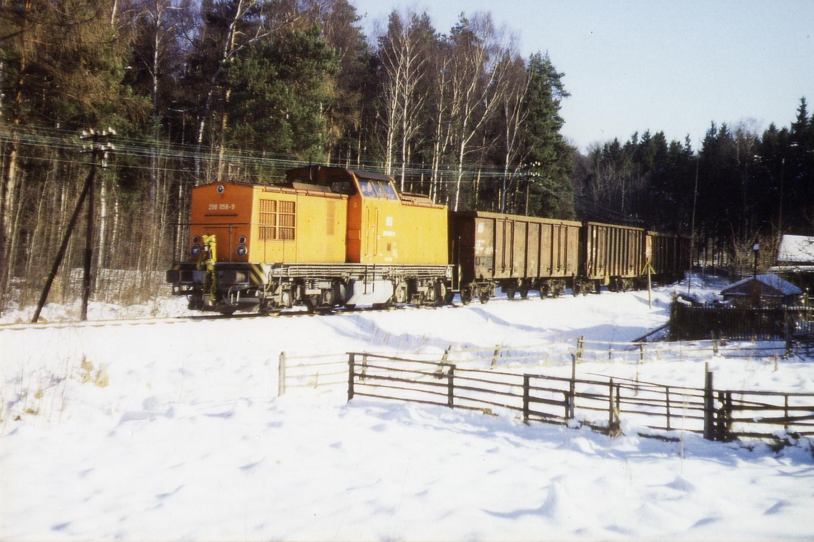 Übergabe im winterlichen Werdauer Wald