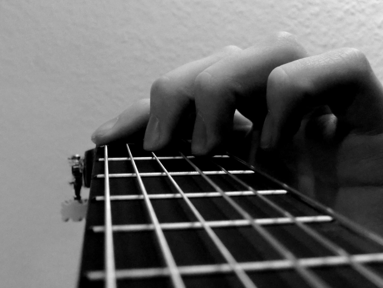 Überquerung meiner Gitarre