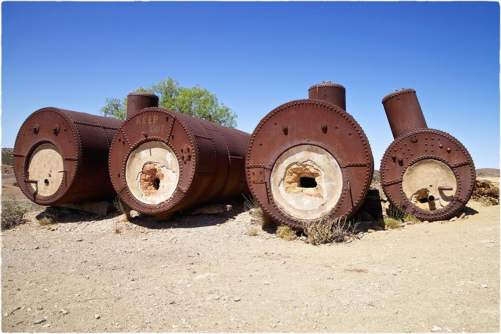 Überreste der ehemaligen Blinman Mine - Australien
