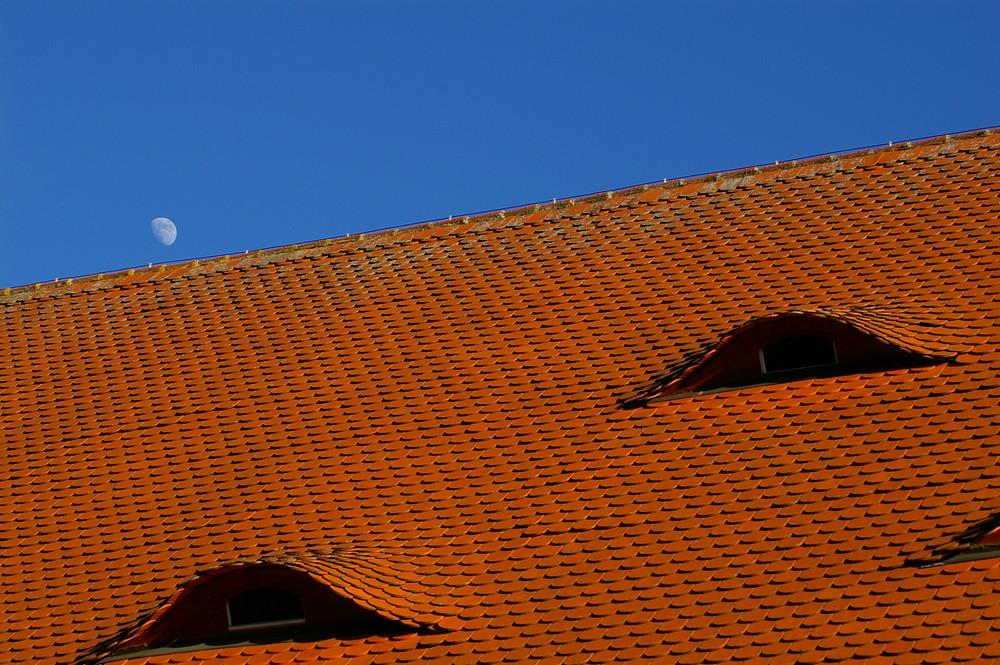 Übers Dach geschaut.