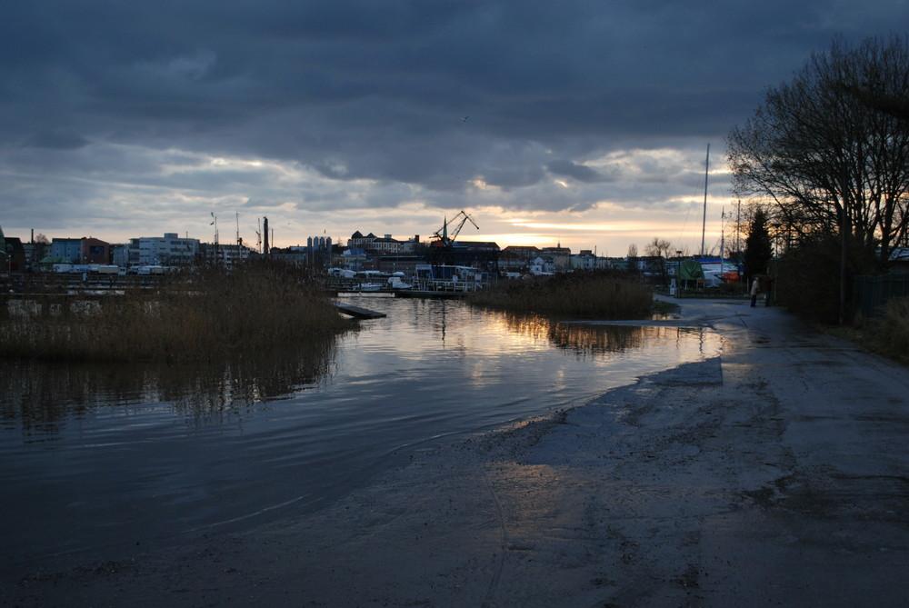 Überschwemmung in Gehlsdorf