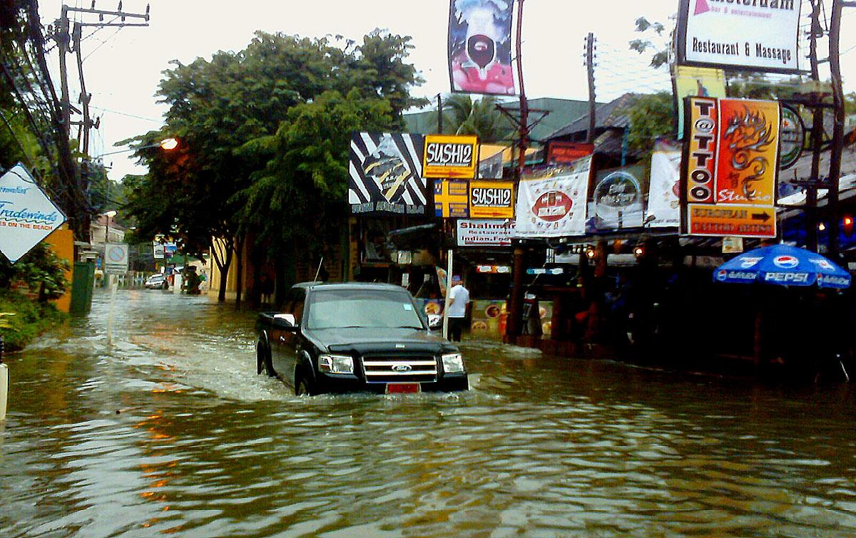 Überschwemmung in Koh Samui
