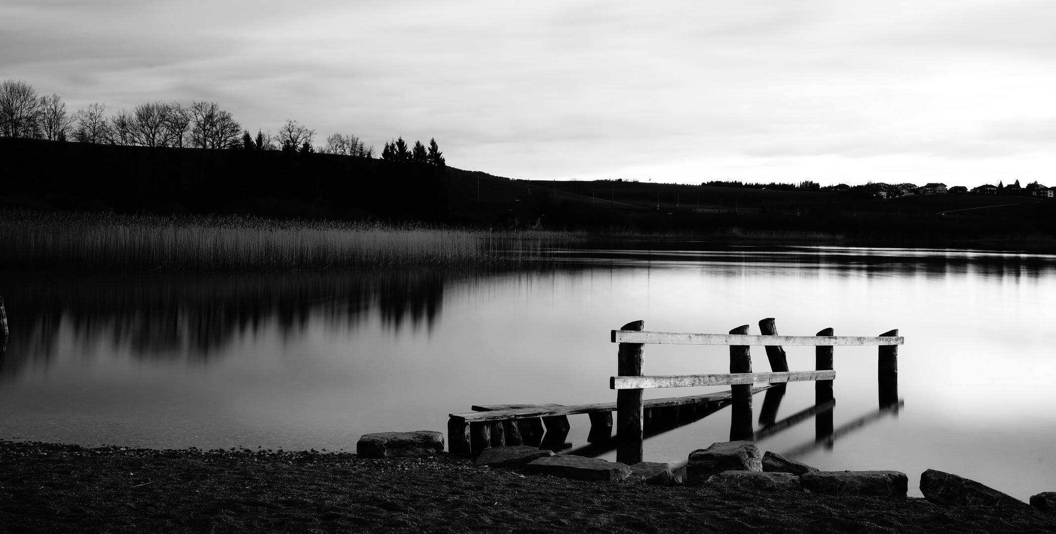 Ufer am Seebad Wallersee