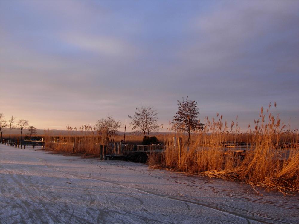 Ufer im Eis ...