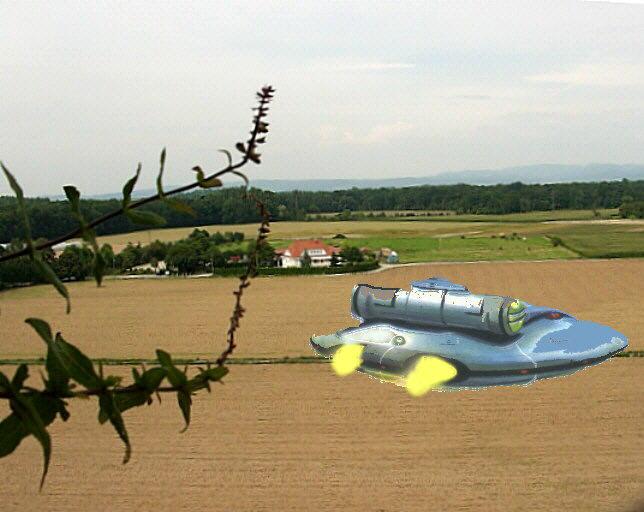 Ufo landet in der Rheinebene