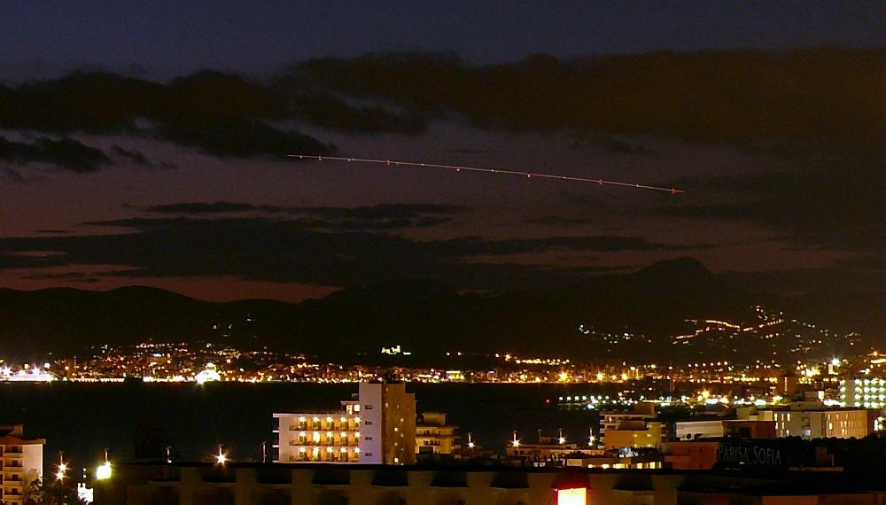 Ufo über Palma de Mallorca