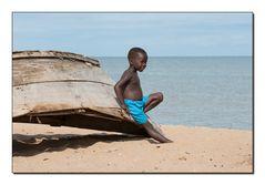 Uganda Lake Albert Strandszene