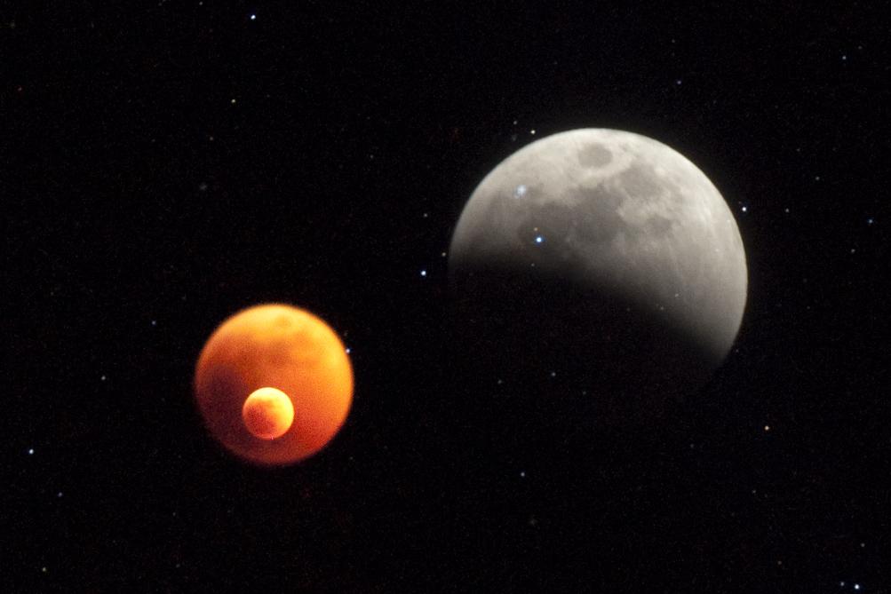 * uganda. moon eclipse *