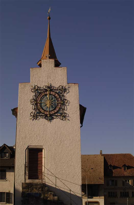 Uhr Turm im Jura (CH)