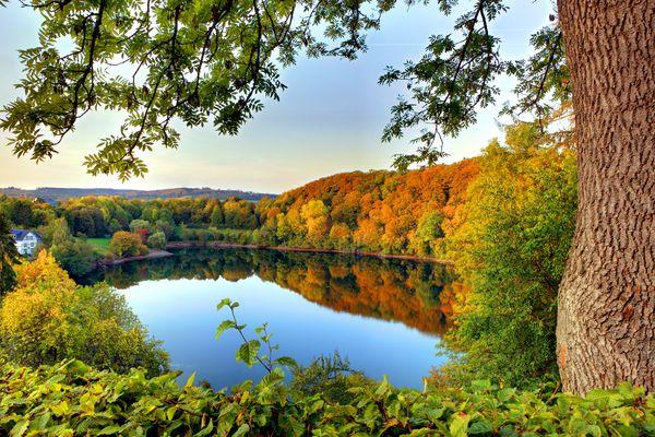 Ulmener Maar in der Herbststimmung