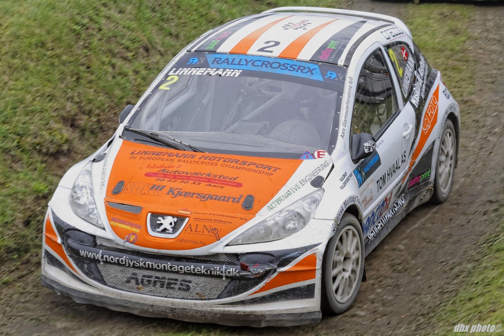 Ulrik Linnemann in his Peugeot 207