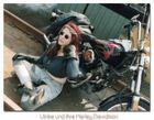 Ulrike mit ihrer Harley