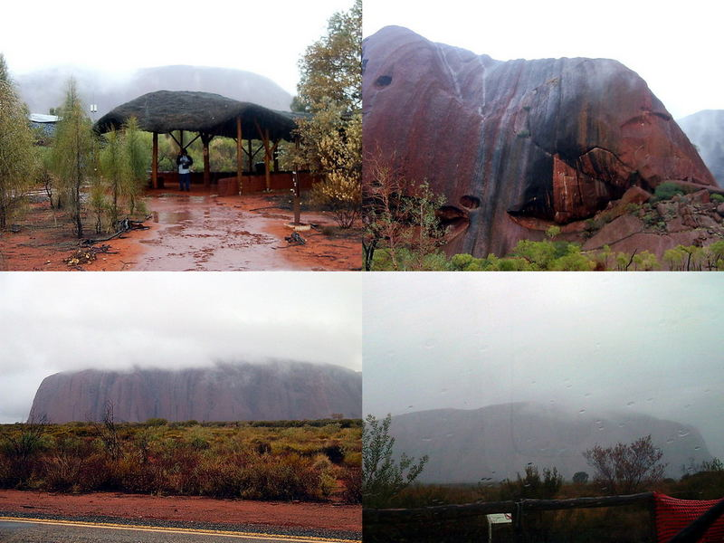 Uluru / Ayers Rock im Regen 2005