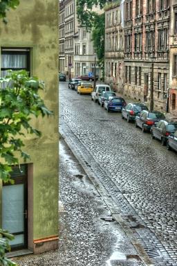 Um die Ecke - Regen ...