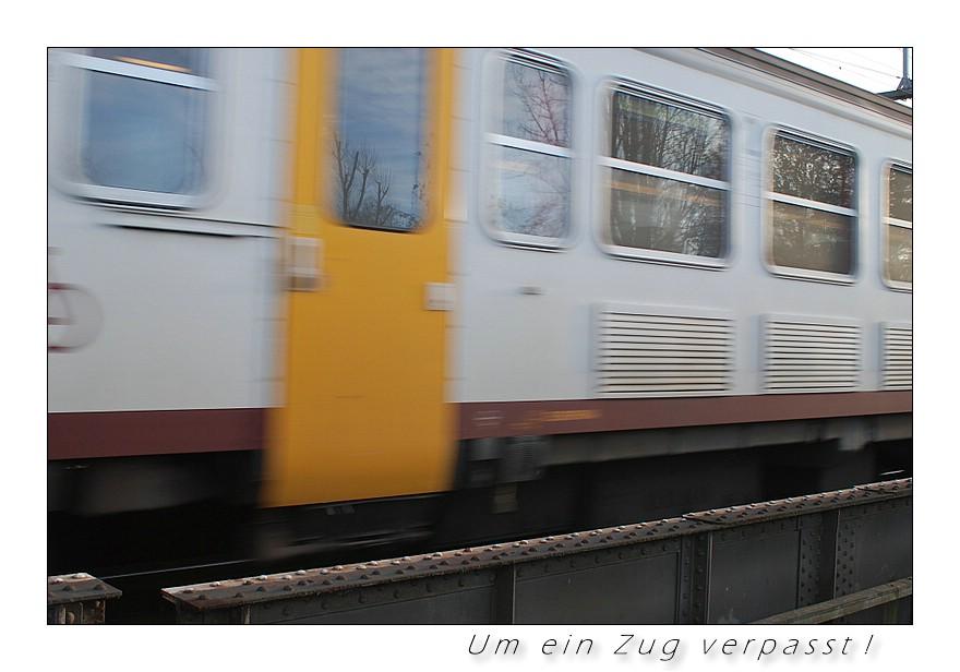 Um ein Zug verpasst