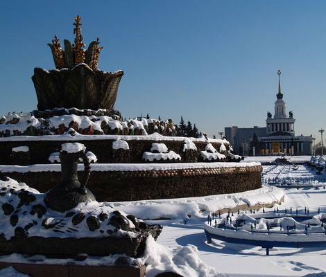 um Schnee zu sehen, fährt man nach Moskau