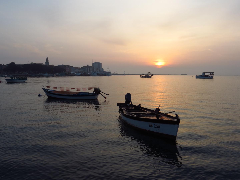 Umag - Fischerboote am Abend -