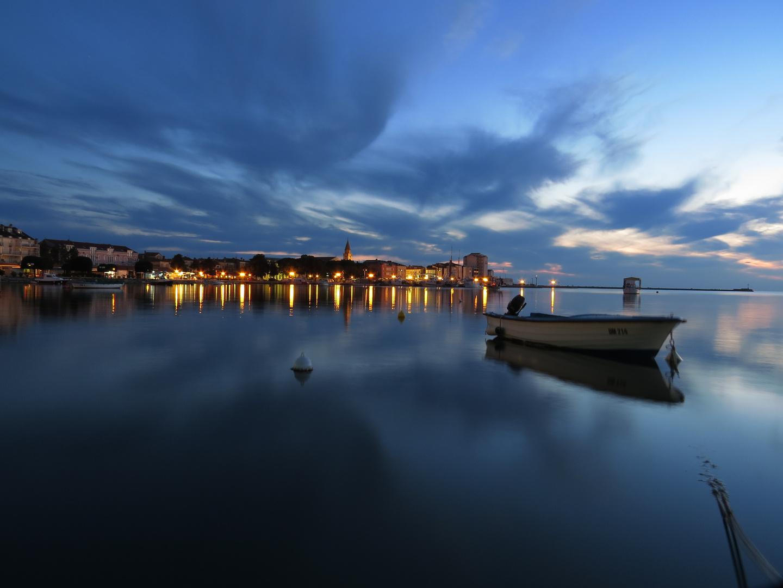 Umag Hafen - Der Abend beginnt -