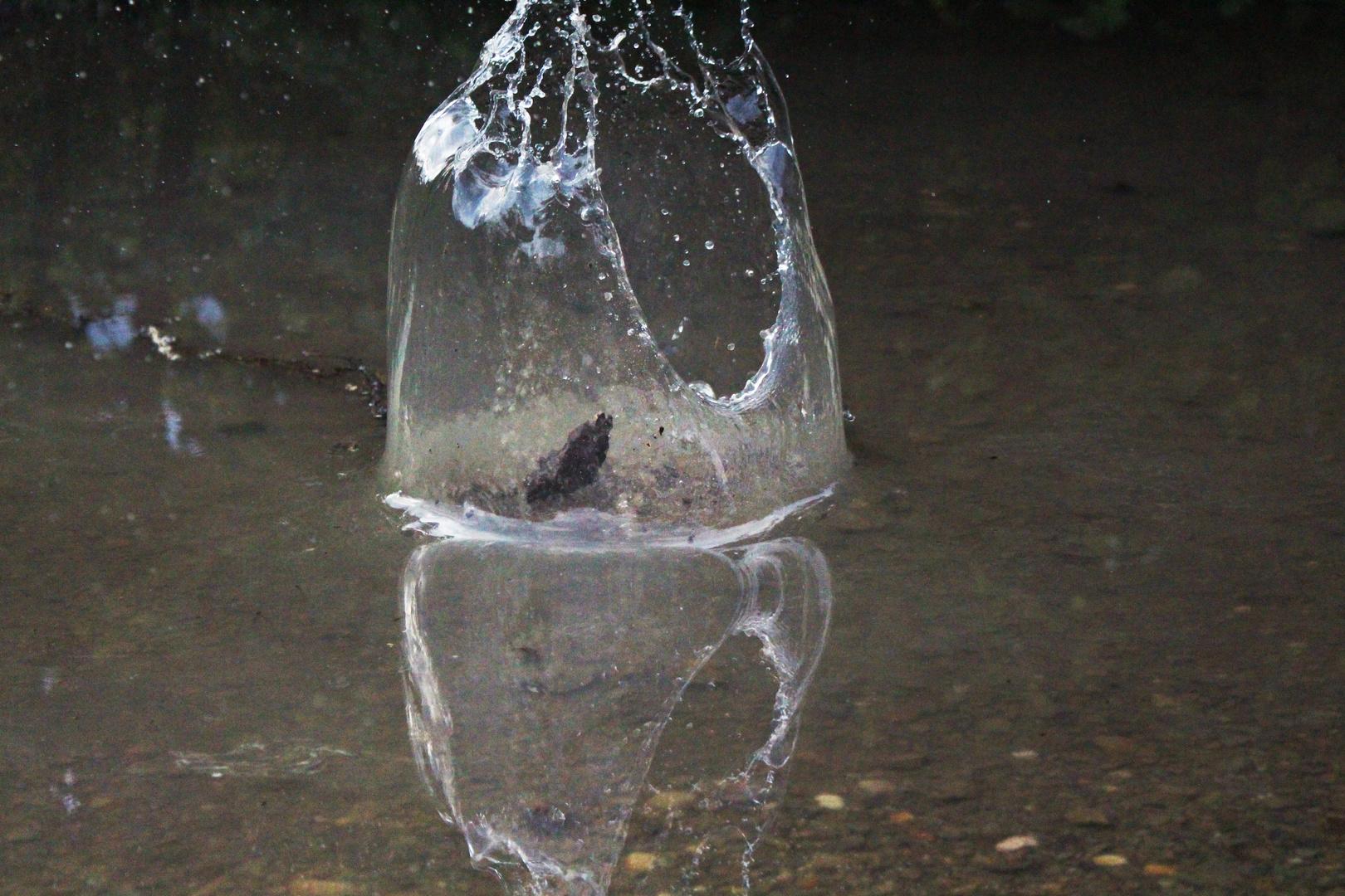 umgeben von Wasser