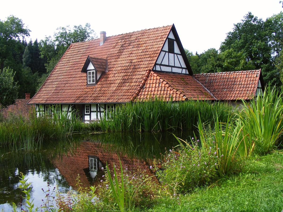 Umgesetztes Bauernhaus im Kloster Vessra (Thür.)