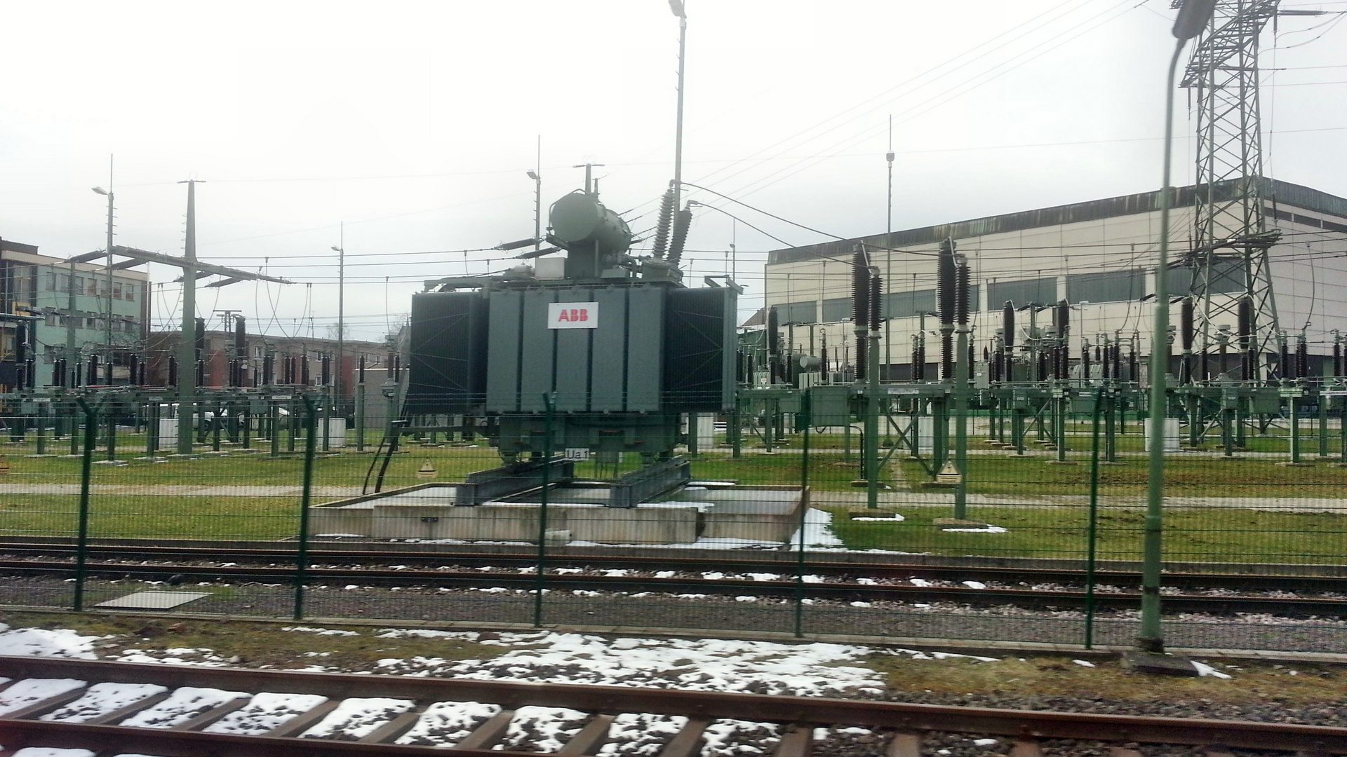Umspannwerk der DB 110KV / 110.000 Volt