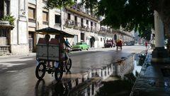 Umweltfreundliches Fahrrad-Taxi
