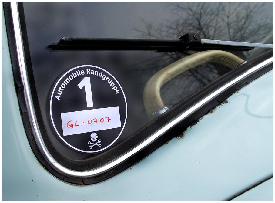 Umweltplakette für den VW-Käfer 1200 ...