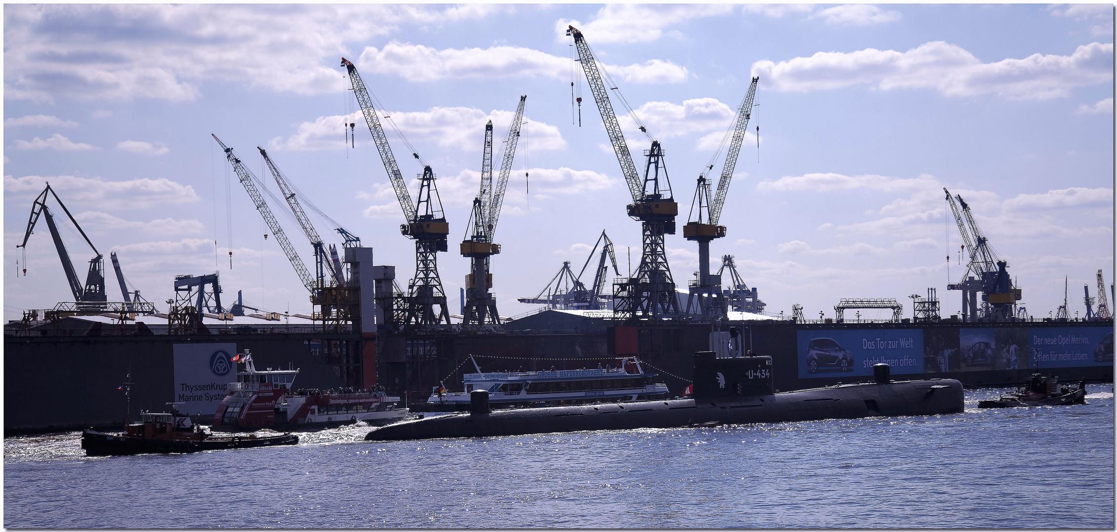 Umzug des U Bootes U 434