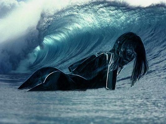un baño en el mar