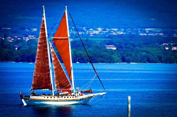 Un bateau à Yvoire