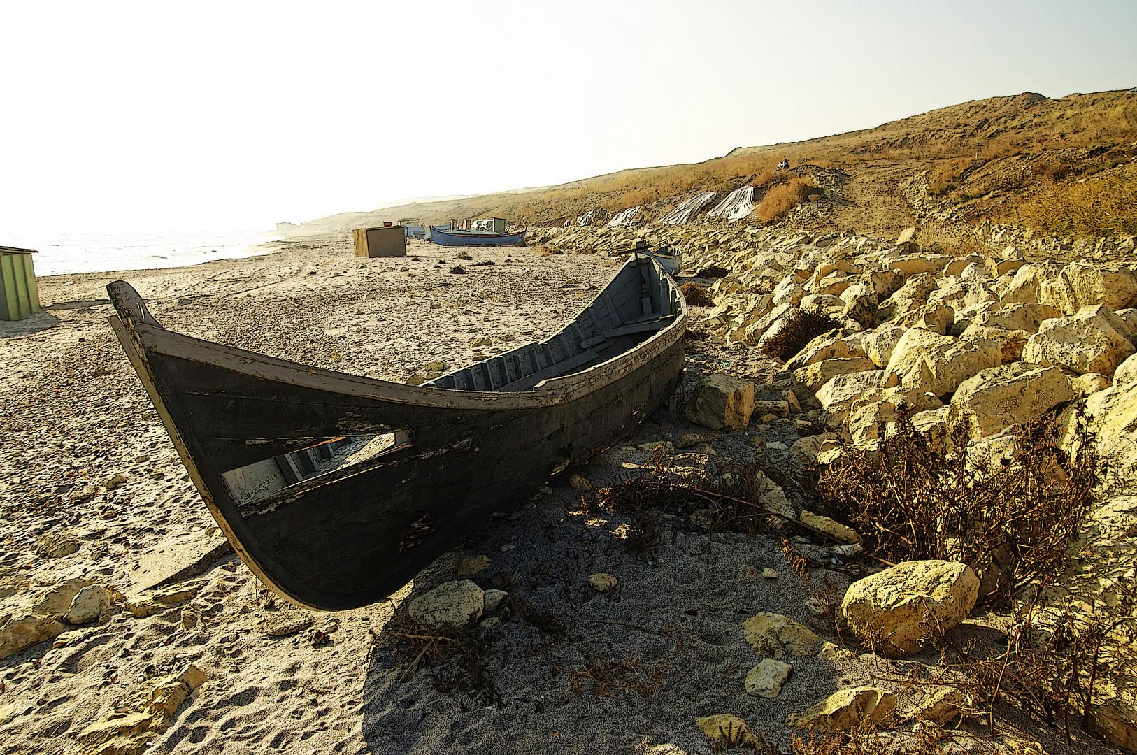 Un bateau abandonné