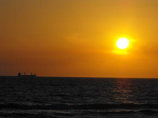 Un beau coucher de soleil...