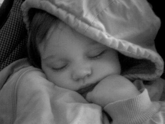 Un bébé endormi