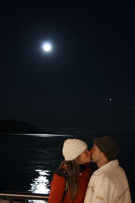 Un beso abajo la luna
