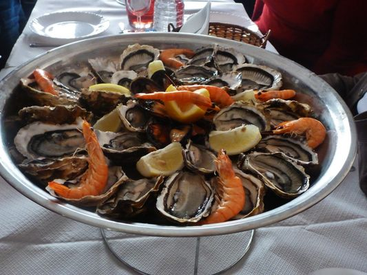 Un bon plateau de fruits de mer