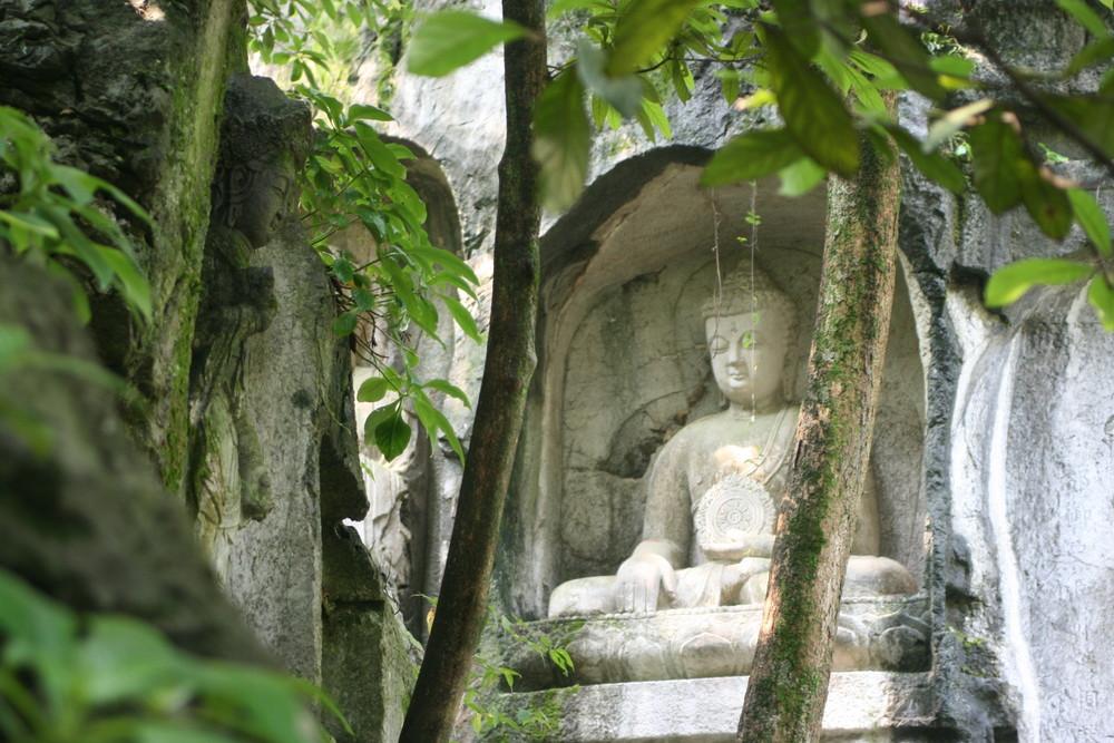 un Bouddha dans la nature