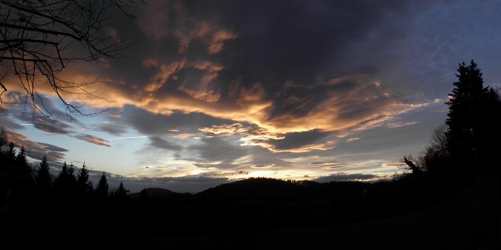 Un ciel dément........