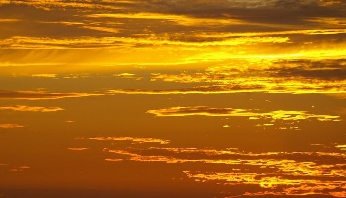 un ciel en feu....
