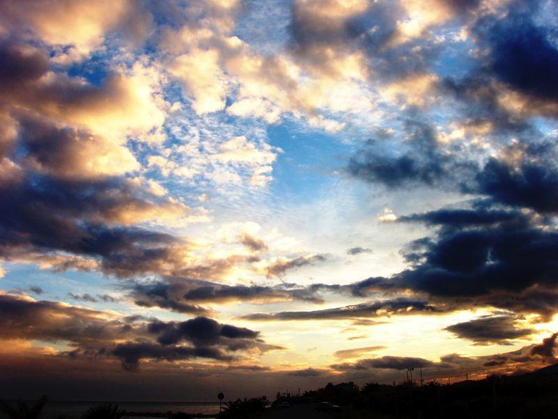 un cielo ...dipinto